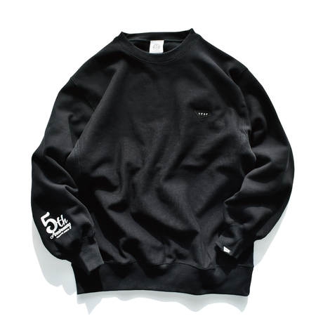 5th Anniversary Limited crewneck sweatshirts【Black】