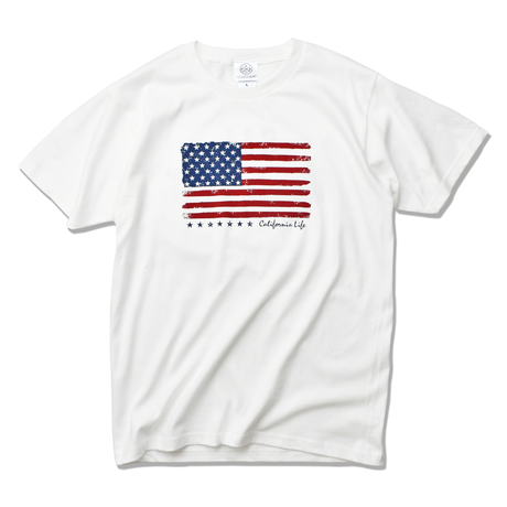 The American flag  Tee  【White】