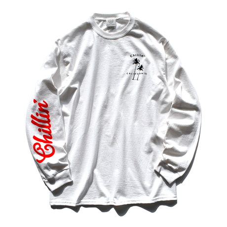 Chillin' California  Long Sleeve Tee【White】