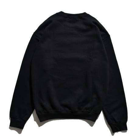 WAVE SWAY SLOW Crew Neck Sweatshirt  / Black