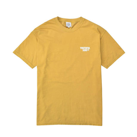 Circle foaming pigment dyed Tee / Mustard