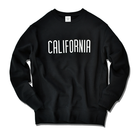 CALIFORNIA logo  heavy weight crew neck sweat【Black】