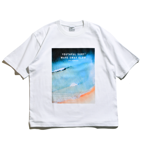 WAVE Photo Graphic Relax Fit Tee / White