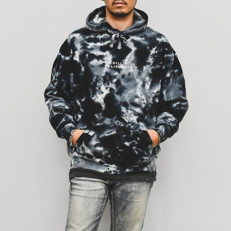 Chillin' california  Tie Dyed Hooded Sweatshirt / Multi Black