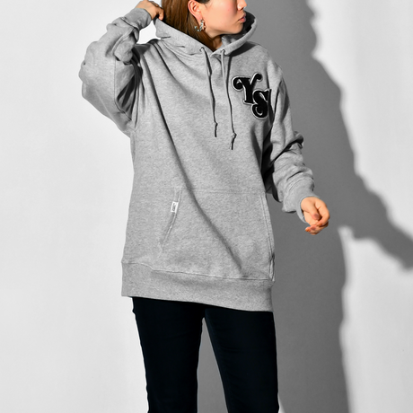 YS Logo Heavy weight Hooded Sweatshirt / Grey