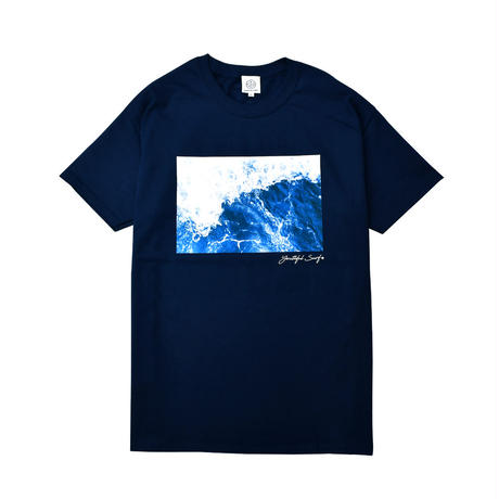 WAVE photo graphic Tee / Navy
