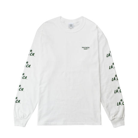 LA.CA Long Sleeve Tee / White