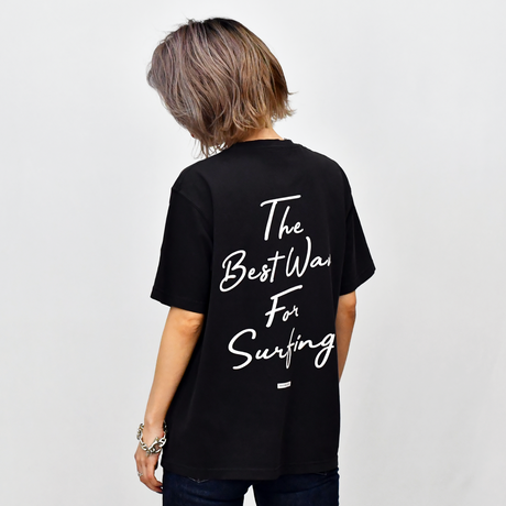 The Best Wave Pigment Pocket Tee / Black