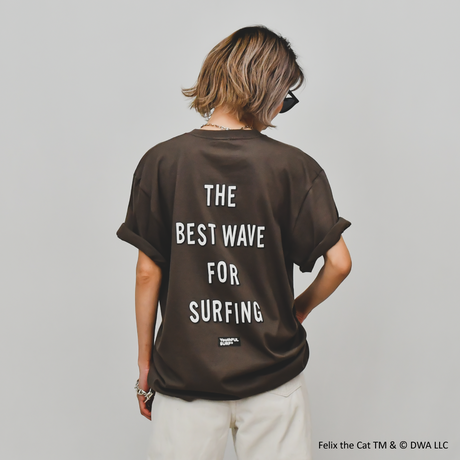 FELIX THE CAT × YouthFUL SURF® Collaboration Tee / Cocoa