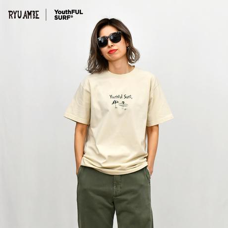 RYU AMBE ×YouthFUL SURF®  Collaboration Tee / Light Beige