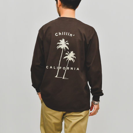 Chillin' california Long Sleeve Tee / Dark Brown