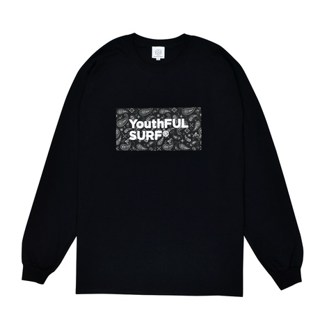 Bandana Box Logo Long Sleeve Tee / Black