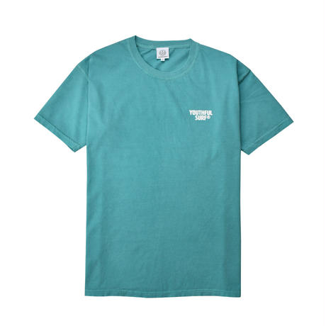 Circle foaming pigment dyed Tee / Seafoam