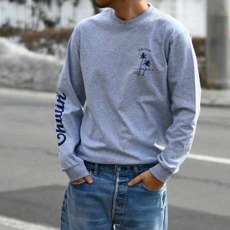 Chillin' California  Long Sleeve Tee【Gray】