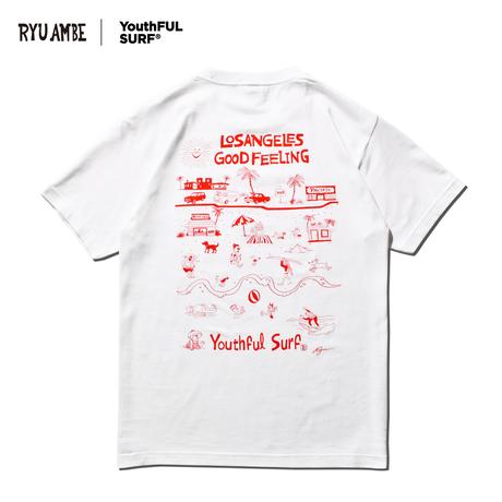 RYU AMBE ×YouthFUL SURF®  Collaboration Tee / White
