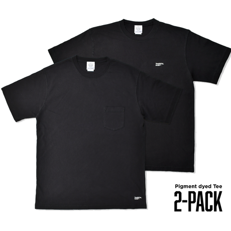 Pigment dyed 2-PACK TEE / Black