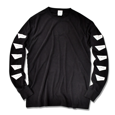 STANDARD LOGO Pigment Dyed Long Sleeve Tee【Black】