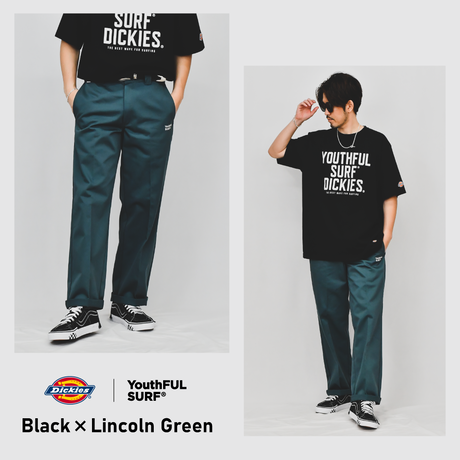 Dickies®×YouthFUL SURF® Collaboration Work Pants / Lincoln Green