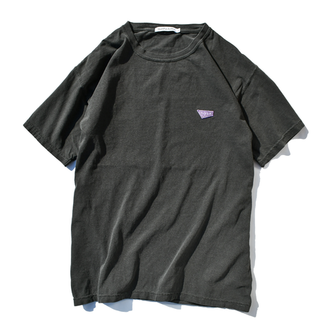 Standard logo  embroidery pigment dyed Tee【Pepper】