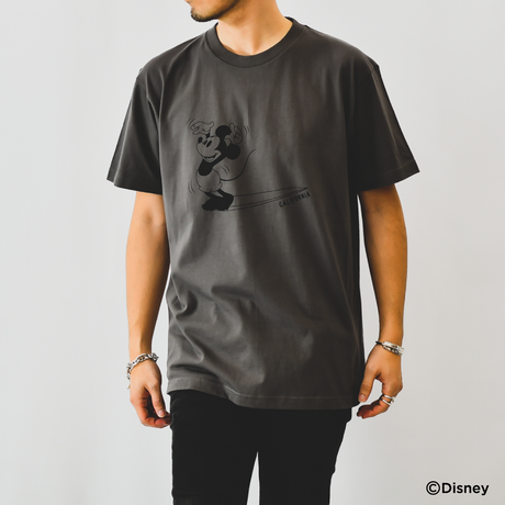 【予約商品】THE BEST WAVE FOR SURFING TEE - MICKEY MOUSE - /  Charcoal