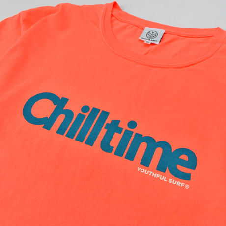 Chill time pigment dyed Tee / Neon Orange