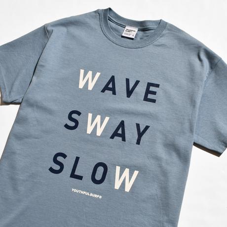 WAVE SWAY SLOW Tee / Stone Blue