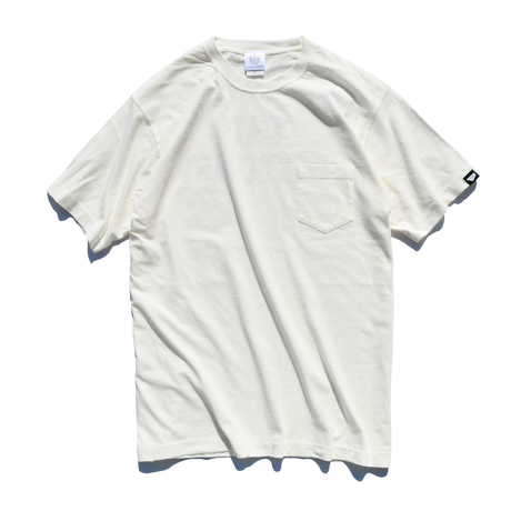 CAL.WEST COAST Pigment Dyed Pocket Tee【Vintage Off white】