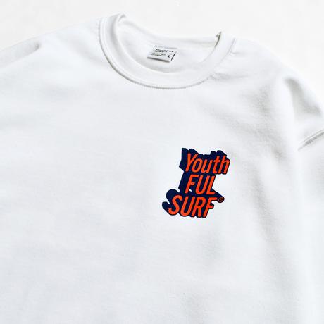 3D Graphic Crew Neck Sweatshirt / White