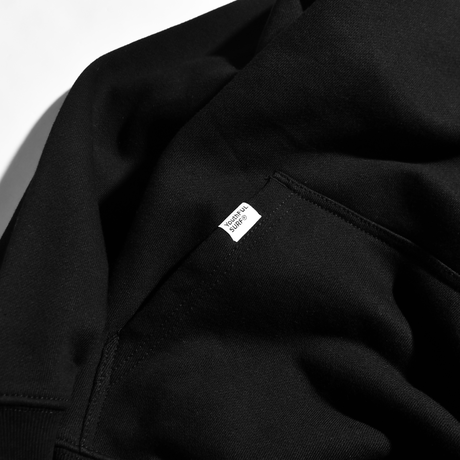 YS Logo Heavy weight Hooded Sweatshirt / Black