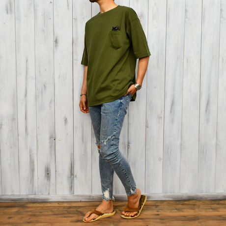 Big Silhouette Pocket Tee  【City Green】