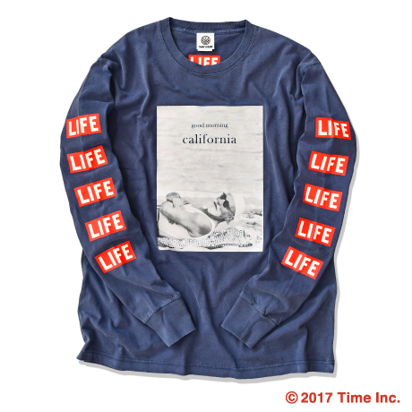 YouthFUL SURF × LIFE Long Sleeve Tee【Navy】