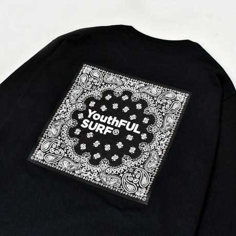 Bandana Square Logo Long Sleeve Tee / Black