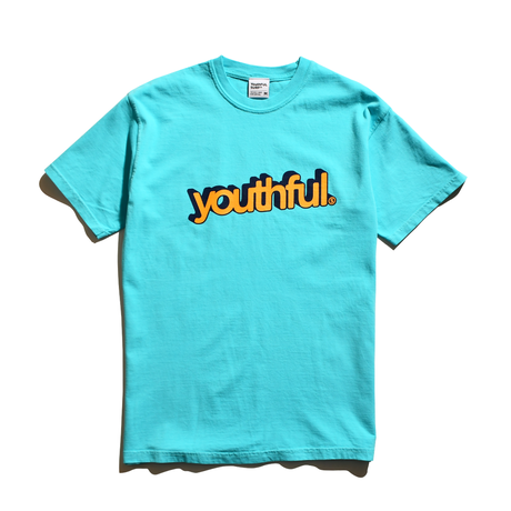 youthful logo Pigment Dyed Tee / Washed Marine