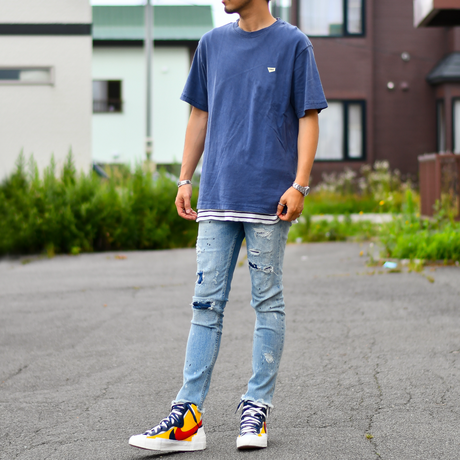 YFSF  Patch Pigment Dyed Tee【Vintage Navy】