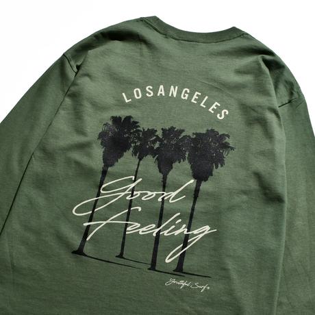 Los Angeles Good Feeling Long Sleeve Tee / Washed Green