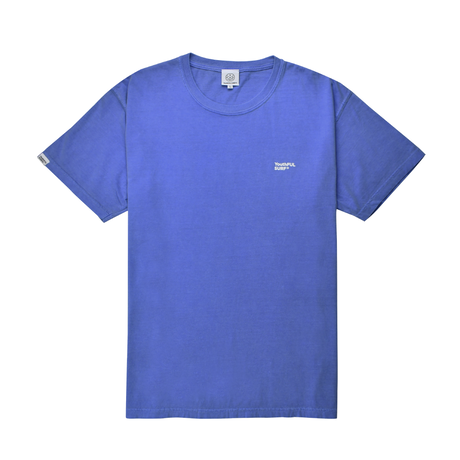 Small Logo Pigment Dyed Tee / Washed Purple