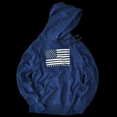 【予約商品】The American flag hooded sweatshirt【Indigo】