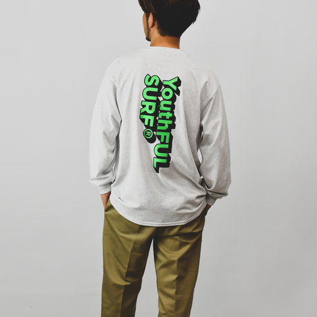 3D Logo Graphic Long Sleeve Tee / Ash