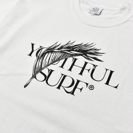 Feather leaf Tee / White