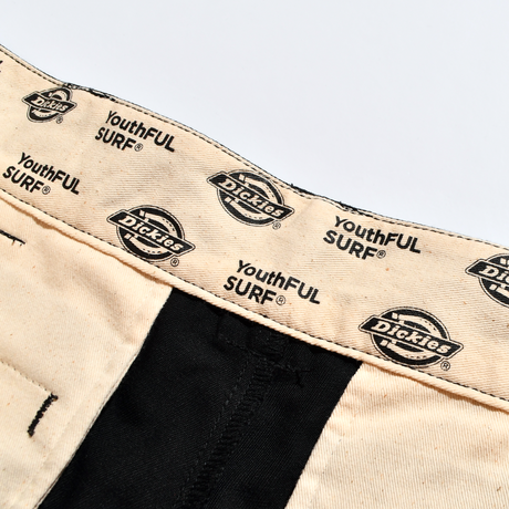 Dickies®×YouthFUL SURF® Collaboration Work Pants / Black