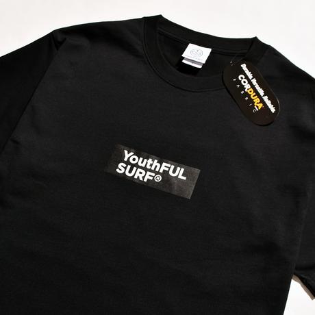 CORDURA × YouthFUL SURF® Box Logo Layer fabric Tee / Black