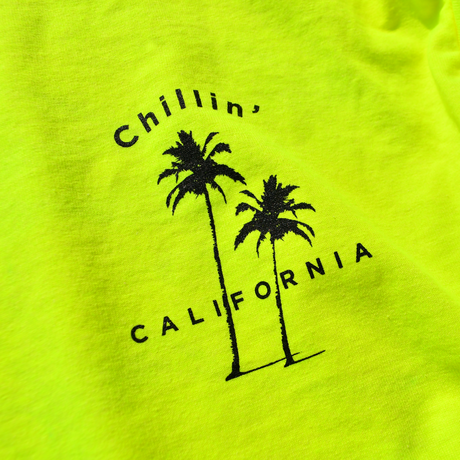Chillin' California  Long Sleeve Tee【Neon Yellow】