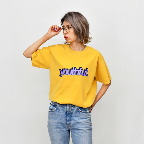 youthful logo Pigment Dyed Tee / Mustard