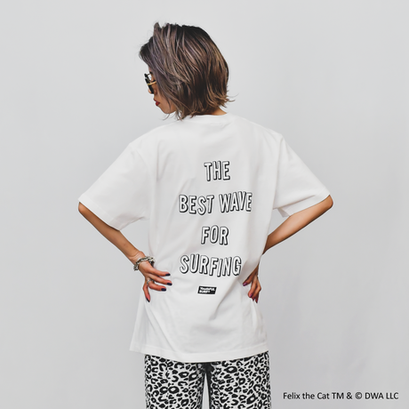 FELIX THE CAT × YouthFUL SURF® Collaboration Tee / White