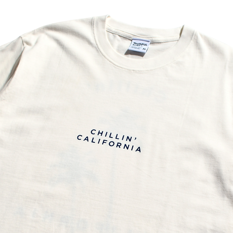 Chillin' california Organic cotton Tee / White