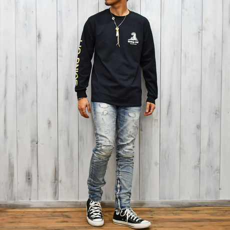GOING OFF  Long Sleeve Tee【Black】