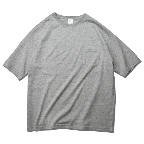 Big Silhouette Pocket Tee  【Mix Gray】