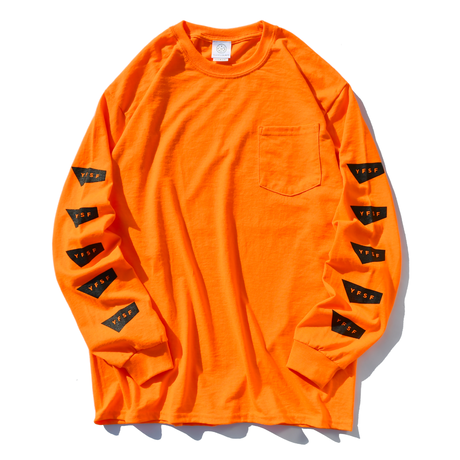 【予約商品】STANDARD LOGO Long Sleeve Pocket Tee【Neon orange】