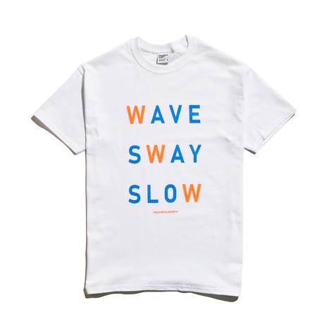 WAVE SWAY SLOW Tee / White