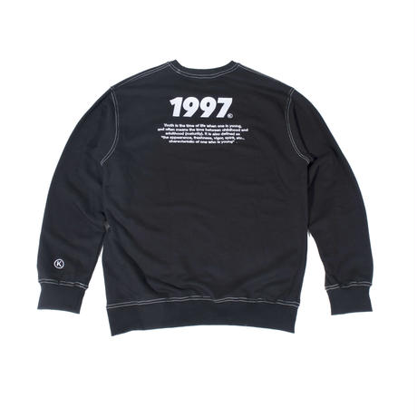 BLACK STITCH SWEAT